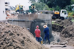 Domestic water tank construction