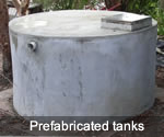Prefabricated tanks for underground installation in urban areas